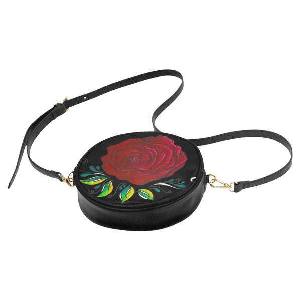 """Winter Rose"" Round Shoulder Purse - Livin' the MAD Life"