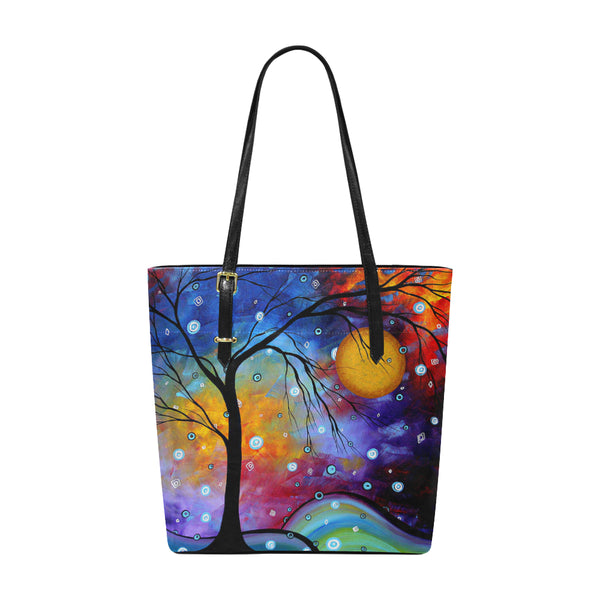 """Winter Sparkle"" Pleather Tote Bag - Livin' the MAD Life"