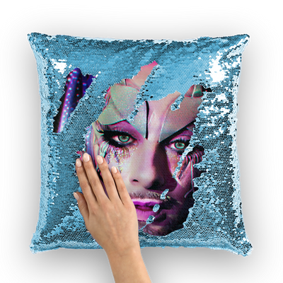 Earth Intruder  Sequin Cushion Cover
