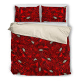 Glass Collection Fx - Black Duvet Cover - Enchanted Red