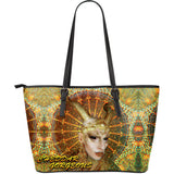 Cheddar Gorgeous Fx - Golden Oracle - Large Leather Tote