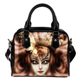 Alien Queen - Art by Hope McClure Fx - Shoulder Handbag