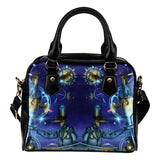 Man Behind Moon and Stars Glow Fx - A.WAB by O.vahFx - Shoulder Handbag