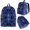 Neon Blue Abstract Fx  - Backpack