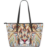 A beaded King Fx - Large Leather Tote