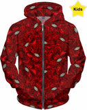 Glass Collection Fx - Kid's Hoodie - Rojo Flower Fx