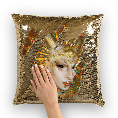 Cheddar Gorgeous  Sequin Cushion Cover