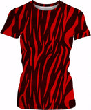 Designed Collection Fx - Womens T Shirt - Red Tiger