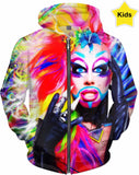Pride All Ovah - Be Yourself Club Kids - Kids Hoodie - Rainbow Kids Collection  Ft Glitz Glam
