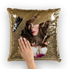 Daisy Deadpetals  Sequin Cushion Cover