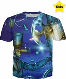 Designed Collection Fx - Kid's T Shirt - Man behind the Moon and Stars Glow