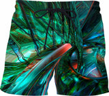 Metal and Shattered Glass Fx - Custom Swim Shorts - A.WAB by O.vahFx