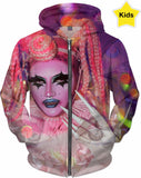 Be Yourself Club Kids -Ft  Loris Queen - Kids Hoodie  - Rainbow Kids Collection