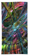 Abstract Collection - Cra8zy Butterfly Fx  - Beach Towel
