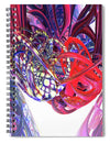 Abstract Fx - 2 Hearts Beat As One Fx  - Spiral Notebook