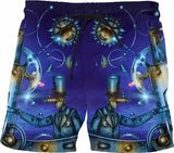 Man Behind The Moon and Stars Glow Fx - Swim Shorts - A.WAB by O.vahFx