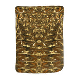 Golden Cuddle Queen and Kings Fx- Velveteen Blanket - Glam Home Accents
