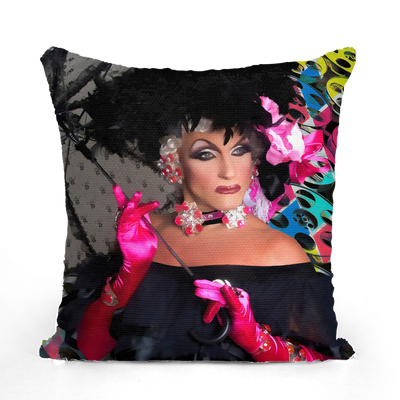 Alan T  Sequin Cushion Cover