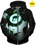 Butterfly View - Featured Artist - Art by Hope McClure - Kid's Hoodie