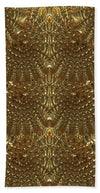 Gold Collection - Golden Warf Sea Shell Fx  - Beach Towel