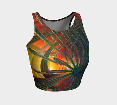Abstracted Love Wins Fx - Athletic Crop Top