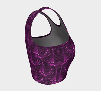 Glass Design Collection - Purple Tears  Fx - Athletic Crop Top
