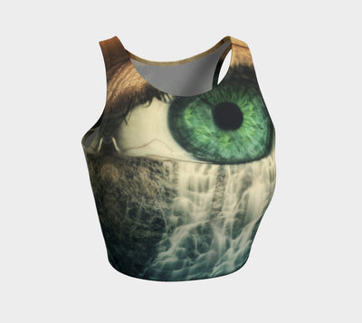 Eye Cry Reflection Fx - Athletic Crop Top