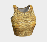 Spike in Gold Fx - Athletic Crop Top