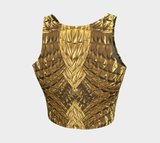 Golden Bow Tie Fx - Athletic Crop Top