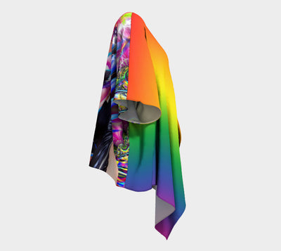 Pride All Ovah - Wave you Flag Fx  - Draped Kimono - Blended Fx