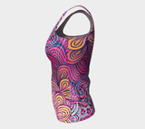 Rainbow Illustration Fx - Fitted Tank - Regular & Long