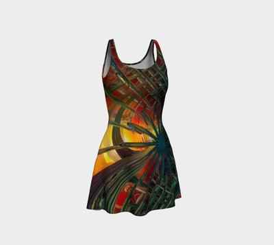 Abstracted Love Fx - Flare Dress