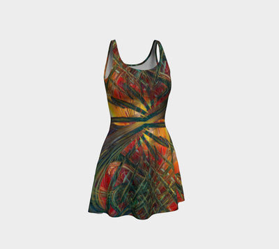 Abstracted Love Wins Fx - Flare Dress