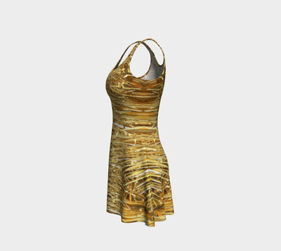 Spike in Gold Fx - Flare Dress