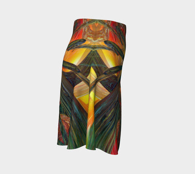 Abstracted Love Wins Fx -  Flare Skirt