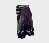 Purple Rain Storm Ft Power Infiniti - Flare Skirt