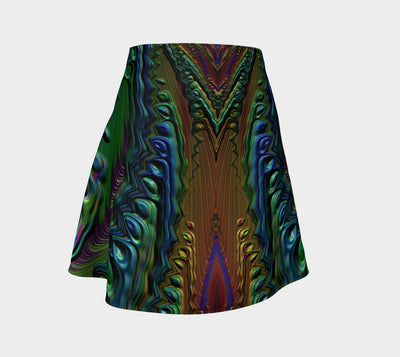 Painted Spilled Metal Fx - Flare Skirt