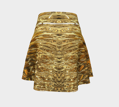 Spike In Fold Fx - Flare Skirt