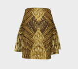 Golden Bowtie Fx - Flare Skirt