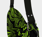 Neon Green & Black Fx - Designed Collection - Origami Tote