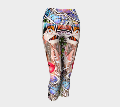 Graffiti Glam in Modern Retro Fx - Yoga Capri