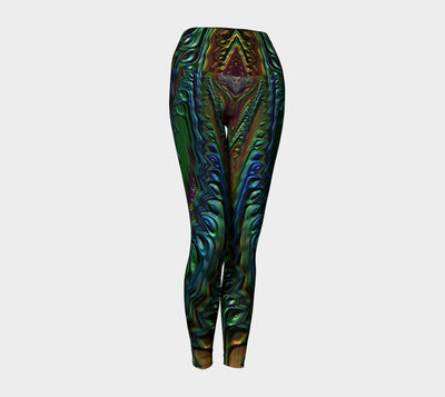 Metal Spilled Paint Fx - Earth Intruder Fx - Version 1 - Yoga Leggings