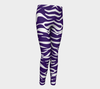 Purple & White Zebra Fx - Youth Leggings
