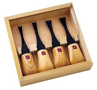 Flexcut Wide Palm Tool Set FR404, 4 piece