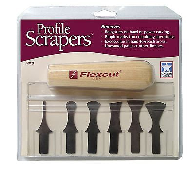 Flexcut 7pc Profile Scraper Set for carving and moulding clean ups