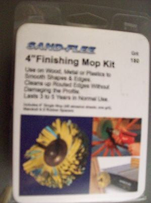"Woodworking 4"" Single Finishing Mop Kit  120 grit"