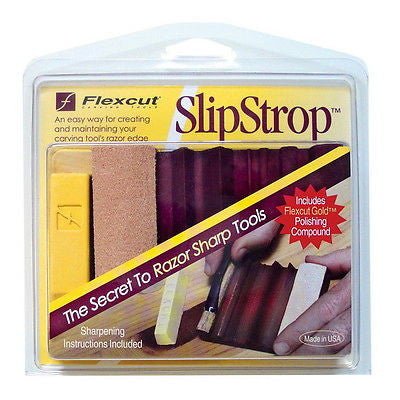 Flexcut Slip Strop Sharpening Hone for carving knives PW12
