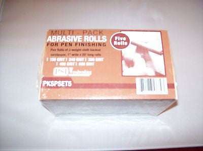 Woodworking Multi pack Abrasive Rolls, 5 grits