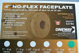 "Oneway 4"" carbon Steel faceplate w 1-1/4 x 8tpi"