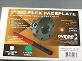"Woodturning 3"" Carbon Steel Oneway faceplate w/ 1x8"" tpi #2391-327"